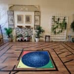Labyrinth Meditation room with star chart in the middle